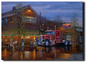 LED canvas Tomas S. Peterbilt truck