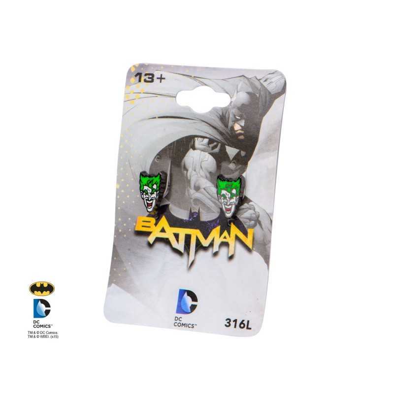 DC comics Batman: the Joker face laughing earrings