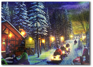 LED canvas snowmobile