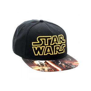 Star wars symbol black snapback cap with the force awakens printed visor