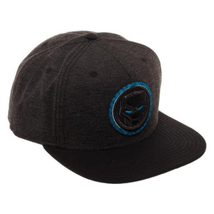 Marvel comics - Black panther symbol grey snapback cap
