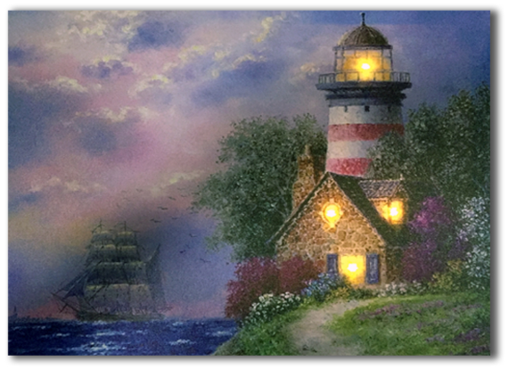 LED lighthouse with garden