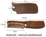 Sandalwood folding comb