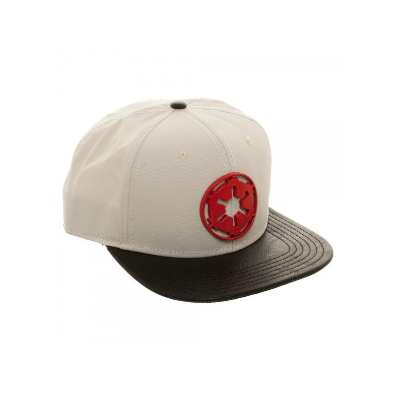 Star wars - Galactic empire red metal symbol grey snapback cap