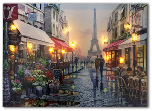 LED canvas romantic Paris