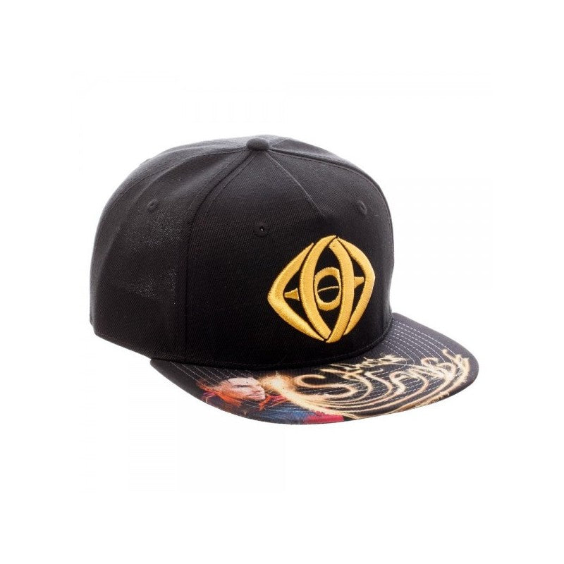 Official Doctor Strange eye of Agamotto snapback cap with printed visor