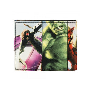 Marvel comics Avengers sublimated weapons bi-fold wallet