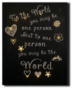 LED canvas world day quote