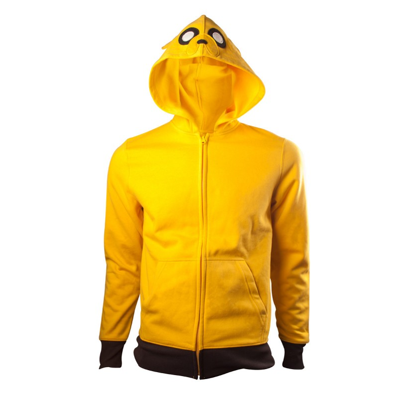 Official Adventure time Jake costume yellow zip hoodie jumper