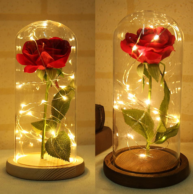 Artificial Red Rose Led Lighting