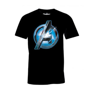Official Marvel comics - Avengers: endgame - quantum realm 'A' symbol black t-shirt