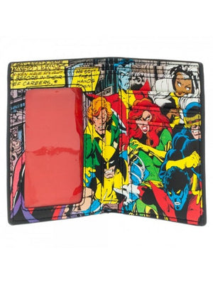 MARVEL'S X-MEN 'X' AND INSIDE COMIC PRINT BI-FOLD WALLET