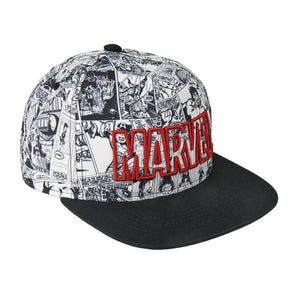Marvel comics all over comic print cap