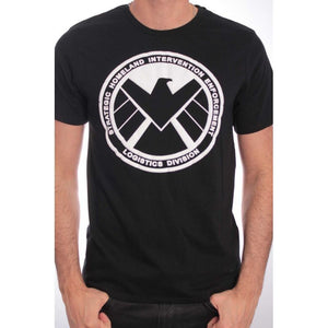 Marvel's agents of SHIELD logo black t-shirt
