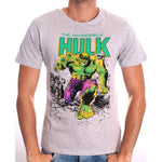 Marvel's the incredible Hulk (with a Hulk smash kinda look) grey t-shirt