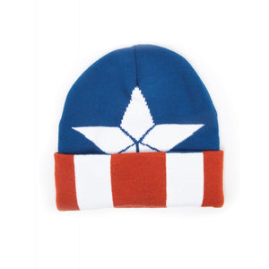 MARVEL COMICS CAPTAIN AMERICA STAR (COSTUME STYLED) BEANIE HAT