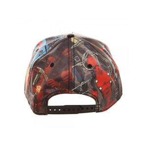 Marvel comics Deadpool all over print PU snapback cap