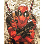 Official Marvel comics Deadpool $ allover sublimation print t-shirt