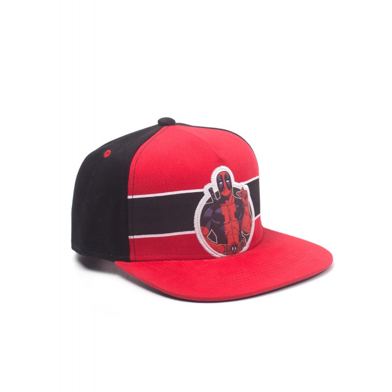 Official Marvel comics Deadpool printed red and black snapback cap