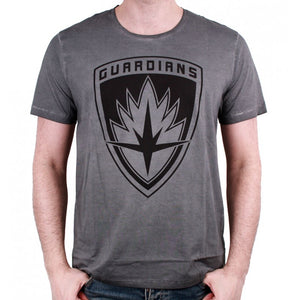 Marvel comics Guardians of the galaxy crest symbol distressed grey t-shirt