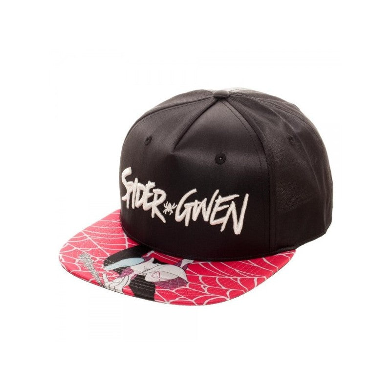 Marvel comics Spider-Gwen satin snapback cap with printed visor