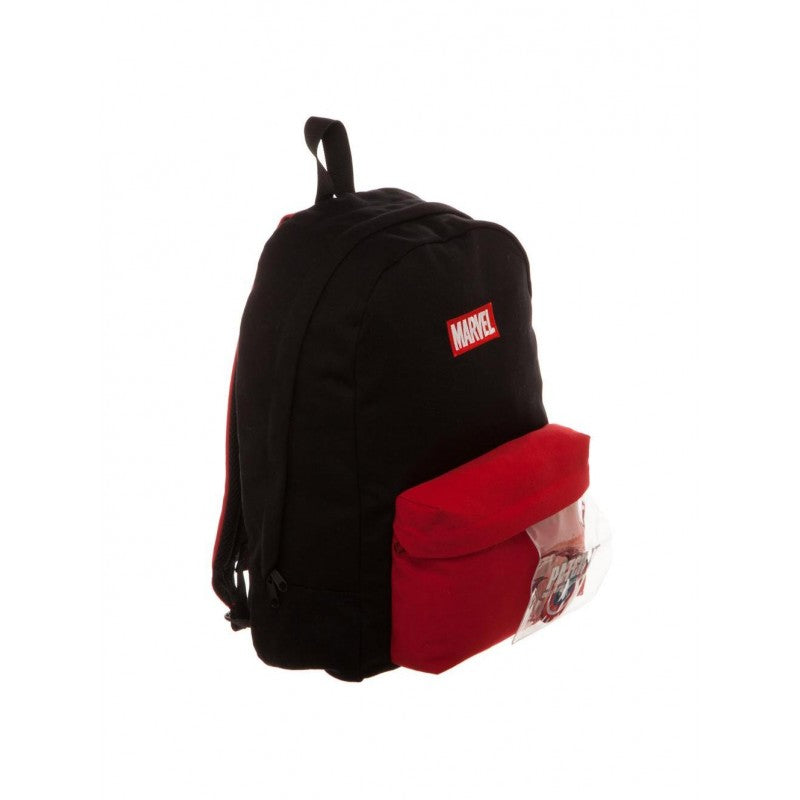 OFFICIAL MARVEL COMICS SYMBOL - PATCH & PIN IT YOURSELF BLACK BACKPACK