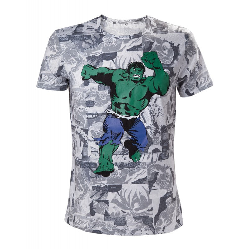 Marvel comics the incredible Hulk comic print t-shirt