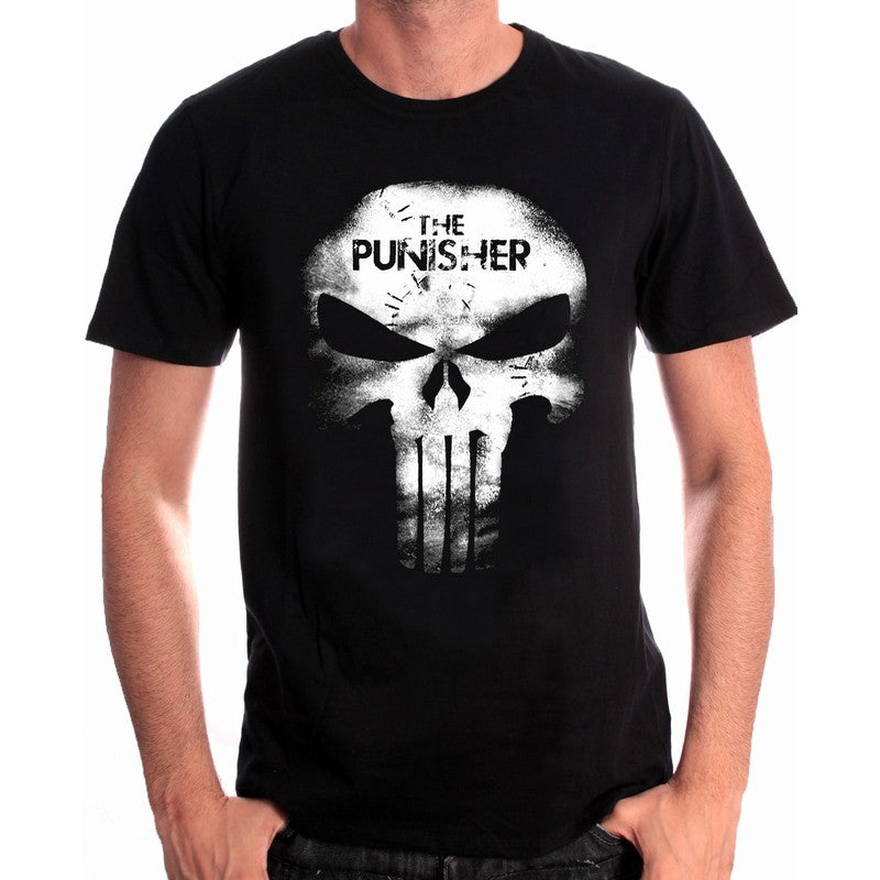 Marvel comics the Punisher skull black t-shirt