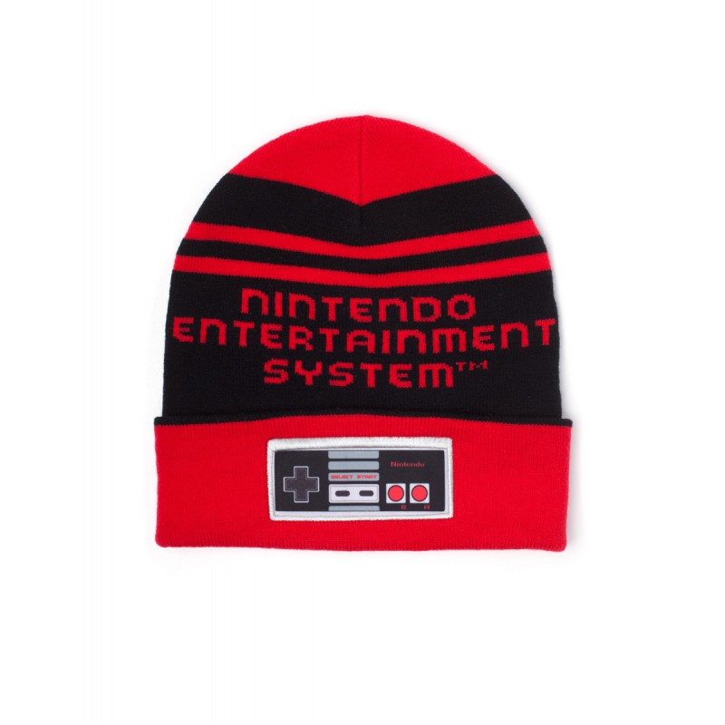Official Nintendo entertainment system controller red knitted beanie
