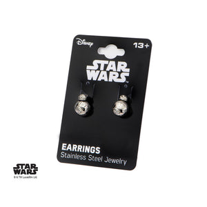 Official Star wars - BB-8 droid moulded grey earrings