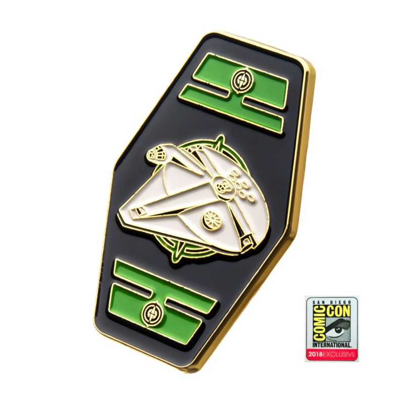 Official Star wars - Millennium Falcon sdcc 2018 metal enamel pin badge