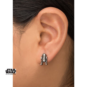 Official Star wars - R2-D2 droid moulded grey earrings