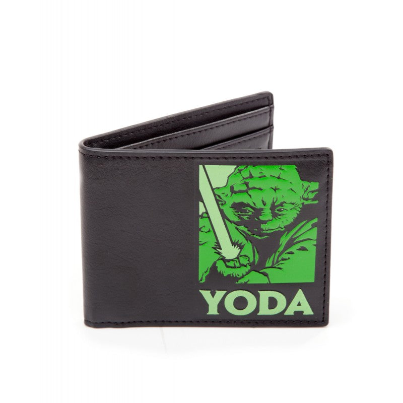 Official Star wars - Yoda stamp styled black bi-fold wallet