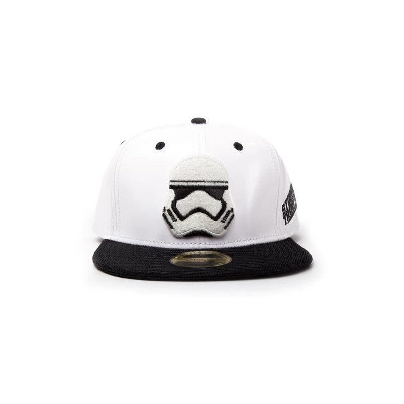 Official stormtrooper mask white snapback cap