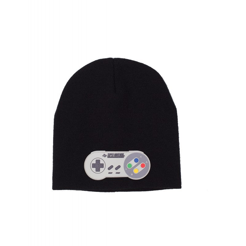Official Super Nintendo entertainment system black knitted beanie