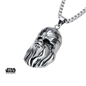 Star wars Chewbacca head 3D pendant on chain necklace