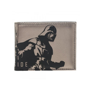 Star wars Darth Vader 'the dark side' gold foil print bi-fold wallet