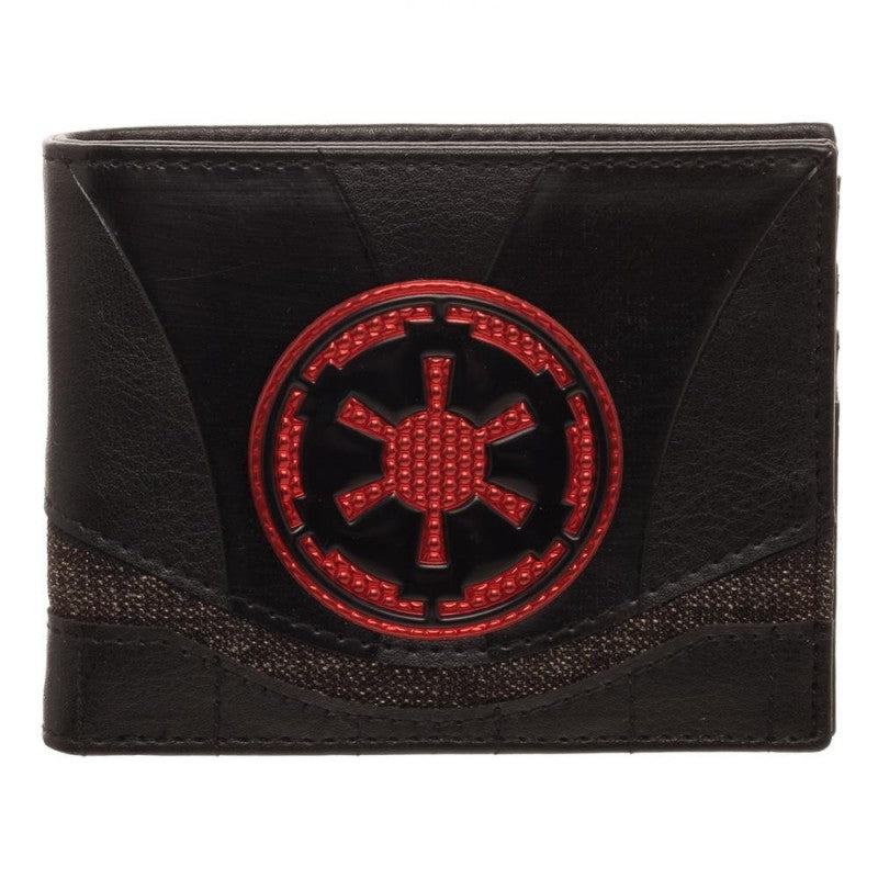 Star wars - empire symbol chrome styled bi-fold wallet