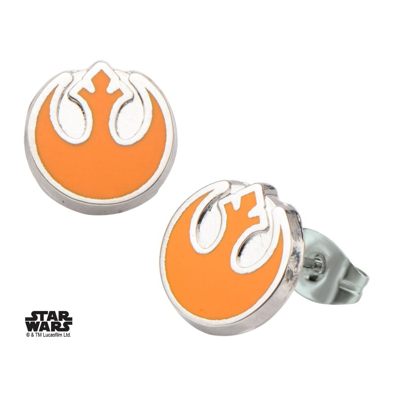 Star wars rebel alliance symbol round stud earrings