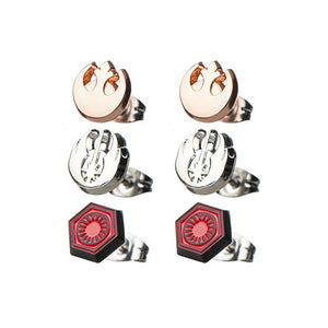 Star wars - rebel, Jedi and first order symbols stud earrings
