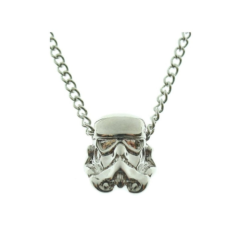 Star wars stormtrooper 3D gun metal pendant on chain necklace