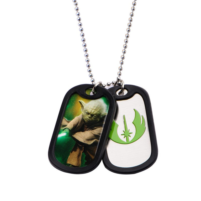 Star wars - Yoda dog tag pendant with chain necklace