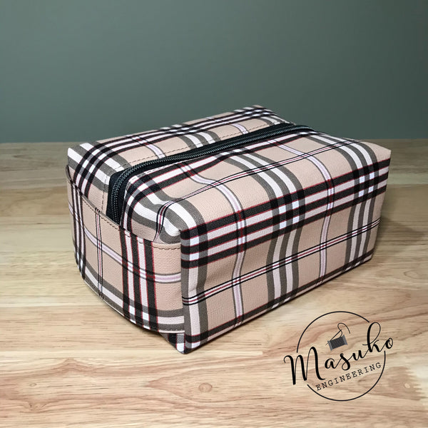 Tan Plaid - Travel Bag
