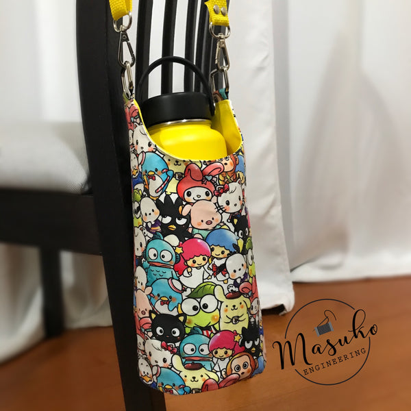 Water Bottle Sling - Kawaii Characters