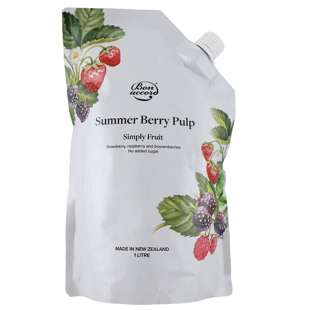 Bon Accord Summer Berry Real Fruit Pulp 1L - Bon Accord
