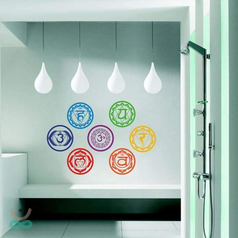 Pegatinas de pared 7 chakras - decoration