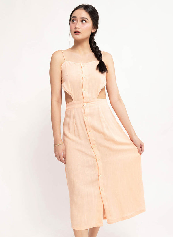 ALENA BACKLESS DRESS - PINK