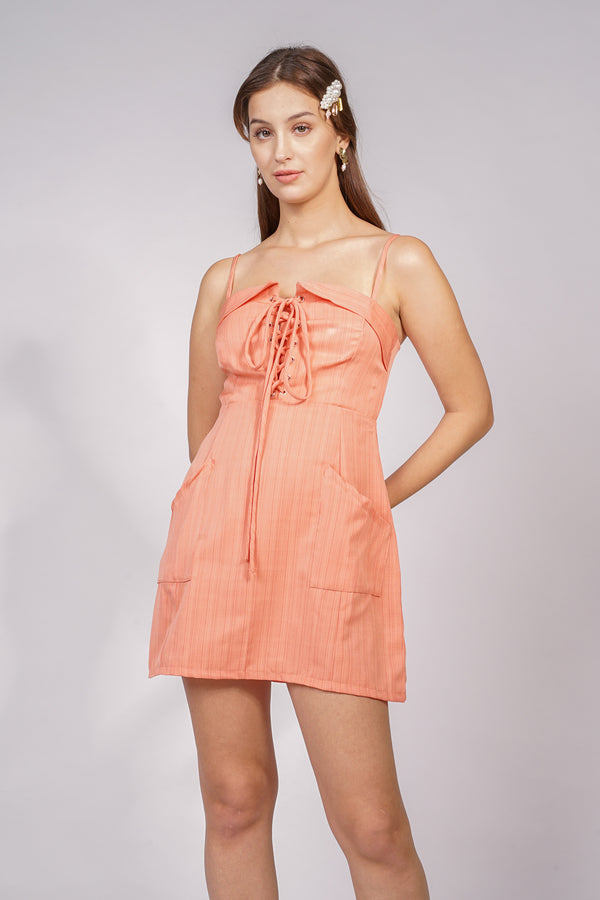ARY DRESS - ORANGE (2 WAY STRAP)