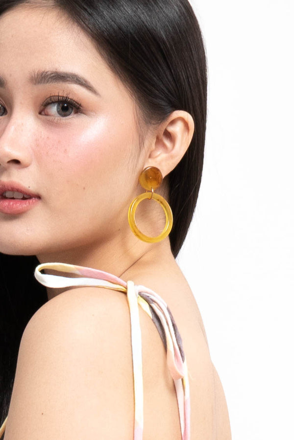OPEN ROUND DROP EARRINGS