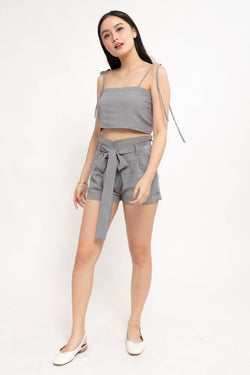 GIANA CO-ORDS REVERSIBLE TOP - GRAY